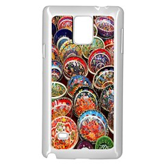 Colorful Oriental Bowls On Local Market In Turkey Samsung Galaxy Note 4 Case (white) by BangZart