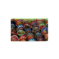 Colorful Oriental Bowls On Local Market In Turkey Cosmetic Bag (xs) by BangZart