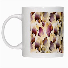 Random Leaves Pattern Background White Mugs by BangZart