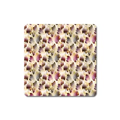 Random Leaves Pattern Background Square Magnet by BangZart