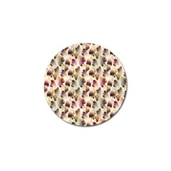 Random Leaves Pattern Background Golf Ball Marker (4 Pack) by BangZart