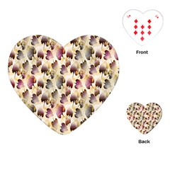 Random Leaves Pattern Background Playing Cards (heart)