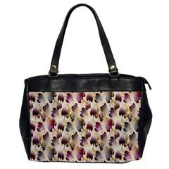 Random Leaves Pattern Background Office Handbags by BangZart