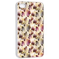 Random Leaves Pattern Background Apple Iphone 4/4s Seamless Case (white) by BangZart