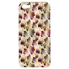 Random Leaves Pattern Background Apple Iphone 5 Hardshell Case by BangZart