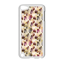 Random Leaves Pattern Background Apple Ipod Touch 5 Case (white)
