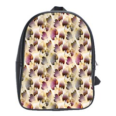 Random Leaves Pattern Background School Bags (xl)  by BangZart