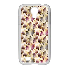 Random Leaves Pattern Background Samsung Galaxy S4 I9500/ I9505 Case (white)