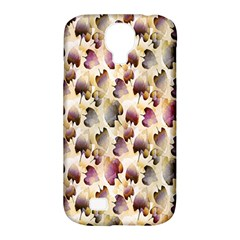 Random Leaves Pattern Background Samsung Galaxy S4 Classic Hardshell Case (pc+silicone)