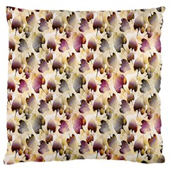Random Leaves Pattern Background Large Flano Cushion Case (two Sides) by BangZart