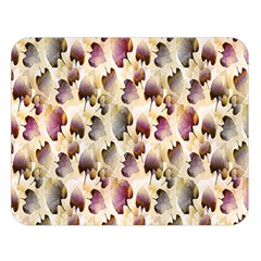 Random Leaves Pattern Background Double Sided Flano Blanket (large)  by BangZart