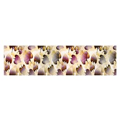Random Leaves Pattern Background Satin Scarf (oblong)