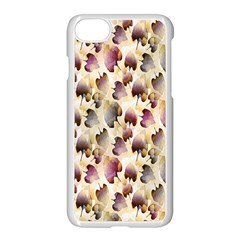 Random Leaves Pattern Background Apple Iphone 7 Seamless Case (white) by BangZart