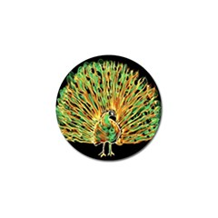 Unusual Peacock Drawn With Flame Lines Golf Ball Marker (10 Pack) by BangZart