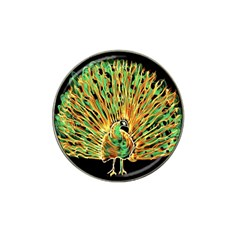 Unusual Peacock Drawn With Flame Lines Hat Clip Ball Marker (4 Pack) by BangZart