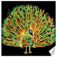 Unusual Peacock Drawn With Flame Lines Canvas 16  X 16   by BangZart