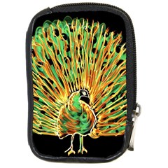 Unusual Peacock Drawn With Flame Lines Compact Camera Cases by BangZart
