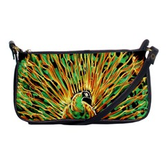 Unusual Peacock Drawn With Flame Lines Shoulder Clutch Bags by BangZart
