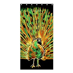 Unusual Peacock Drawn With Flame Lines Shower Curtain 36  X 72  (stall)