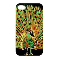 Unusual Peacock Drawn With Flame Lines Apple Iphone 4/4s Hardshell Case by BangZart