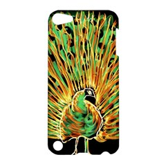 Unusual Peacock Drawn With Flame Lines Apple Ipod Touch 5 Hardshell Case by BangZart
