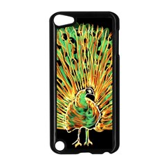 Unusual Peacock Drawn With Flame Lines Apple Ipod Touch 5 Case (black) by BangZart