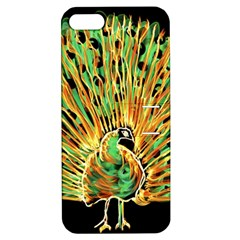 Unusual Peacock Drawn With Flame Lines Apple Iphone 5 Hardshell Case With Stand by BangZart