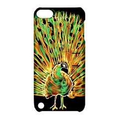 Unusual Peacock Drawn With Flame Lines Apple Ipod Touch 5 Hardshell Case With Stand by BangZart