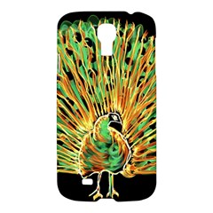 Unusual Peacock Drawn With Flame Lines Samsung Galaxy S4 I9500/i9505 Hardshell Case by BangZart