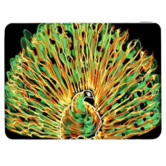 Unusual Peacock Drawn With Flame Lines Samsung Galaxy Tab 7  P1000 Flip Case by BangZart