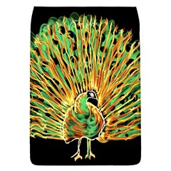 Unusual Peacock Drawn With Flame Lines Flap Covers (l)  by BangZart