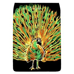 Unusual Peacock Drawn With Flame Lines Flap Covers (s)  by BangZart