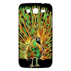 Unusual Peacock Drawn With Flame Lines Samsung Galaxy Mega 5 8 I9152 Hardshell Case  by BangZart