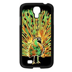 Unusual Peacock Drawn With Flame Lines Samsung Galaxy S4 I9500/ I9505 Case (black) by BangZart