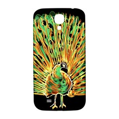 Unusual Peacock Drawn With Flame Lines Samsung Galaxy S4 I9500/i9505  Hardshell Back Case