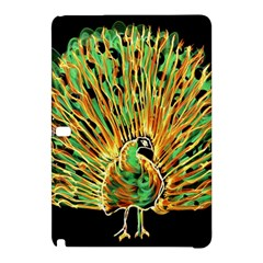 Unusual Peacock Drawn With Flame Lines Samsung Galaxy Tab Pro 12 2 Hardshell Case by BangZart