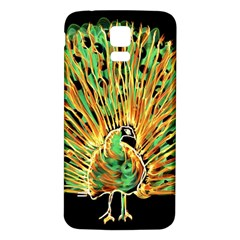 Unusual Peacock Drawn With Flame Lines Samsung Galaxy S5 Back Case (white) by BangZart