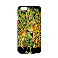 Unusual Peacock Drawn With Flame Lines Apple Iphone 6/6s Hardshell Case