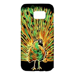 Unusual Peacock Drawn With Flame Lines Samsung Galaxy S7 Edge Hardshell Case by BangZart