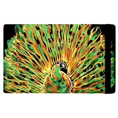 Unusual Peacock Drawn With Flame Lines Apple Ipad Pro 9 7   Flip Case by BangZart
