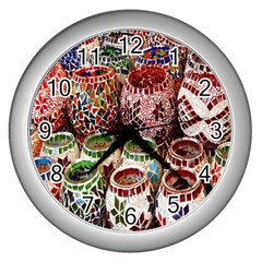 Colorful Oriental Candle Holders For Sale On Local Market Wall Clocks (silver)  by BangZart