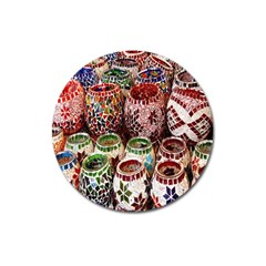 Colorful Oriental Candle Holders For Sale On Local Market Magnet 3  (round) by BangZart