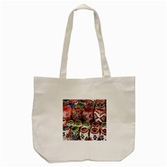 Colorful Oriental Candle Holders For Sale On Local Market Tote Bag (cream) by BangZart