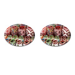 Colorful Oriental Candle Holders For Sale On Local Market Cufflinks (oval) by BangZart