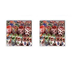 Colorful Oriental Candle Holders For Sale On Local Market Cufflinks (square) by BangZart