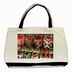 Colorful Oriental Candle Holders For Sale On Local Market Basic Tote Bag (two Sides)