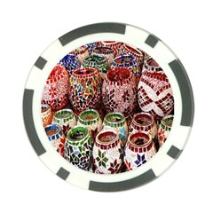 Colorful Oriental Candle Holders For Sale On Local Market Poker Chip Card Guard (10 Pack)