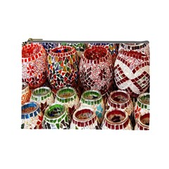 Colorful Oriental Candle Holders For Sale On Local Market Cosmetic Bag (large)  by BangZart
