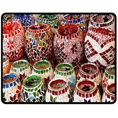 Colorful Oriental Candle Holders For Sale On Local Market Fleece Blanket (medium)  by BangZart