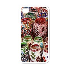 Colorful Oriental Candle Holders For Sale On Local Market Apple Iphone 4 Case (white) by BangZart